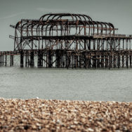The derelict West Pier in Brighton