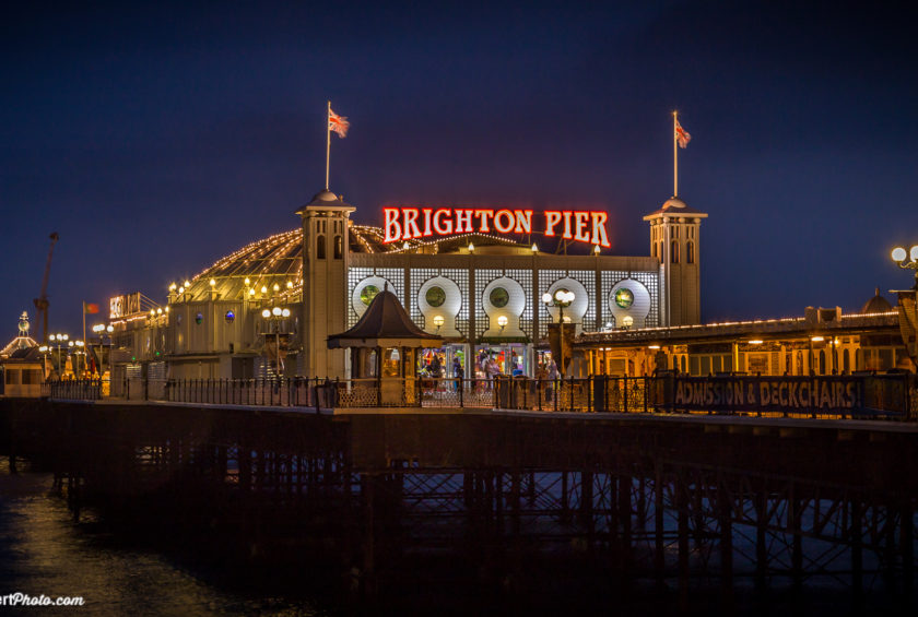 Brighton Pier at night