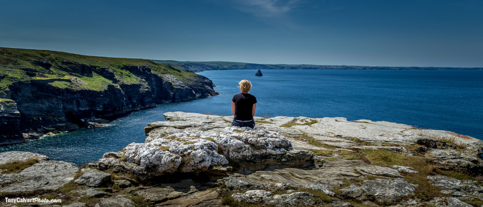 Resting on the Cornwall Cliffs